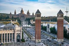 Montjuic view (Nikola Ševa) Tags: barcelona spain europe towers montjuic hill city