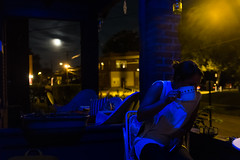 2016 jul-sep people 16 (Doctor Casino) Tags: mary bluelight mug tea night frontporch