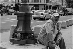 7_DSC1896 (dmitry_ryzhkov) Tags: art city europe russia moscow documentary journalism street urban candid life streetlife outdoor streetscene close scene streetshot image streetphotography candidphotography streetphoto moment light shadow photography shot people population resident inhabitant person live portrait streetportrait candidportrait unposed public face eyes look stranger man men sony alpha black blackandwhite bw monochrome white bnw blacknwhite sit lookback beard oldman old looks day daylight