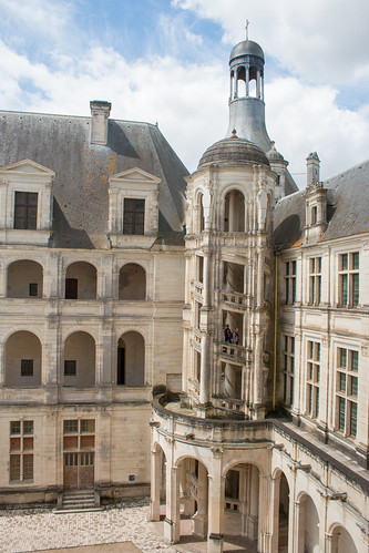 Escalier extérieur, Château de Chambord