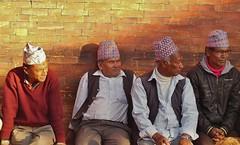 NEPAL,unterwegs  in der Königsstadt Patan, Lalitpur, old men , 15151/7849 (roba66 Thx for +27 Million views) Tags: reisen travel explore voyages urlaub visit roba66 nepal asien südasien asia city stadt capitol kathmandubefore earthquake tempel tempelanlage patan lalitpur nepalesen old men alte oldmen people menschen männer