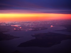 westernport dawn (mugley) Tags: landscape travel morning dawn aerial planewindow water sea bay islands clouds cloudage frenchisland phillipisland sanremo colours purple orange yellow westernportbay victoria australia olympus omd em5 micro43 microfourthirds digital mirrorless olympusem5 1442 kitlens zoom mzuiko1442mmf3556iir zoomedin 24mm f44 iso200 160s