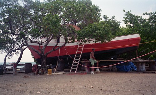 Boatbuilding on the north shore of Carriacou.