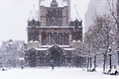 Falling Snow ((Jessica)) Tags: snow fallingsnow snowflakes copleysquare boston newengland massachusetts winter snowstorm cold freezing bokeh depthoffield sonyalpha sonya6000 sony a6000
