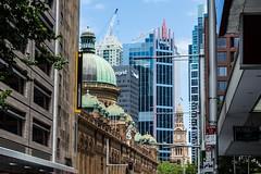 QVB + Sydney Town Hall (dustaway) Tags: cityscape sydney qvb queenvictoriabuilding cbd nsw australia buildings