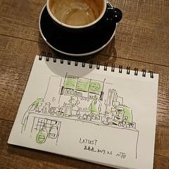 LATTEST OMOTESANDO (Natsumi Tsuchida) Tags: 1c privatework cafe cafesketch