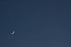 Luna & Venus in the Daytime (LongInt57) Tags: moon planet venus sky daytime crescent waxing white blue astronomy science nature space kelowna bc canada okanagan