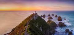 Nugget Point Lighthouse (Mark McLeod 80) Tags: 2016 markmcleod markmcleodphotography nz newzealand southisland nuggetisland sunrise coast