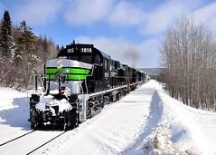 Upgrade (Michael Berry Railfan) Tags: sociétéduchemindeferdelagaspésie sfg1819 rs18 mlw montreallocomotiveworks alco gaspe gaspesie train unittrain windmilltrain freighttrain