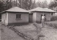 Bungalows at the  British Embassy Addis Adaba Ethiopia 1953 (Bury Gardener) Tags: bw blackandwhite oldies old 1950s 1953 ethiopia africa snaps british addisadaba