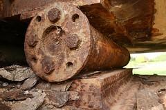 Vom Rost zerfressen - From the rust eat away! (Karabelso) Tags: rost brücke lager brückenlager crossen zwickau sachsen germany panasonic lumix gx7 rust bridge camp