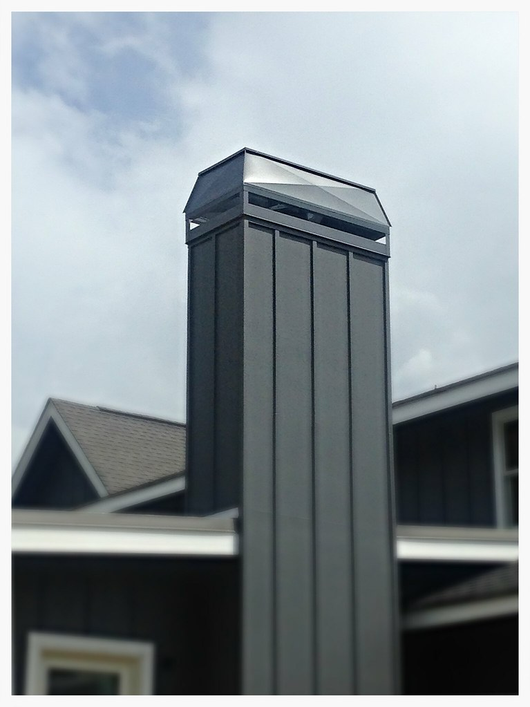 Custom Barnhill Chimeny Shroud, Powdercoated Gray. Chattanooga, Tn.