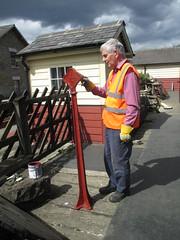 John paints mile post 15Aug15