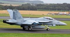 166681 F18 US NAVY BLACKLIONS6 (douglasbuick) Tags: scotland us airport nikon flickr aircraft aviation navy super hornet f18 prestwick d40 166681