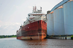 """Wisconsin, Superior, """"American Victory"""" (EC Leatherberry) Tags: wisconsin ship greatlakes 1942 lakesuperior freighter bulkcarrier douglascounty grainship bulkfreighter stramericanvictory"""