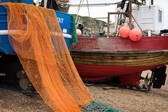 Beached (ShrubMonkey (Julian Heritage)) Tags: beach boats coast boat fishing harbour details shingle gear rope landing coastal shore hastings nautical hull nets stern a7 trawler stade felicity buoy clinker jackhenry rx58 rx403 beachlaunched