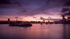 DSC01154 (facebook.com/DownstairsCats/) Tags: park light sunset red sea sky seascape reflection clouds landscape hongkong pier outdoor sony east hong kong shore   kowloon tong   kwun           mirrorless    bellphoto