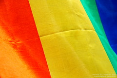 Silk Rainbow Flag 3 (Melanie Jane - London) Tags: rainbow spain flag silk sitges silkrainbowflag