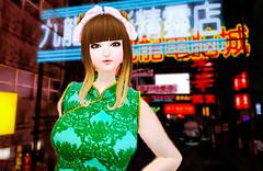 FREE LB *pulcino* MIKI China Dress(Emerald LB) (Emechan (emeraldbluegreen resident)) Tags: boom secondlife angelica pulcino theseasonsstory embw