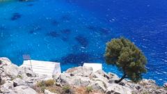Agios Vasilios, Symi (fxtheo) Tags: sea mer church island mediterranean ile bleu greece grèce symi eglise méditerranée perché agios suspendu vasilios