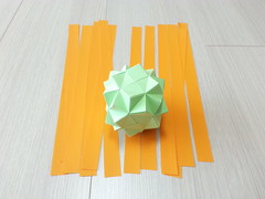 Snub Coral Cube (1st step) (hyunrang) Tags: coral origami cube hur snub paperstrip