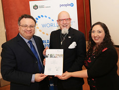 Rev Jack Lamb from Townsend Enterprise Park WorldHost Celebration and Certificate Presentation