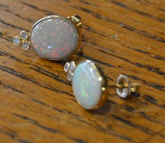 "PAIR QUALITY OPAL EARRINGS • <a style=""font-size:0.8em;"" href=""http://www.flickr.com/photos/51721355@N02/21684444099/"" target=""_blank"">View on Flickr</a>"