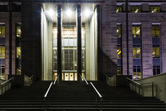 Canberra at night:  John Gorton Bldg (Photoma*) Tags: architecture night triangle canberra parliamentary