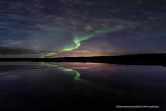 Reflection. (Kjartan Guðmundur) Tags: nightphotography sky reflection clouds stars iceland nightscape ngc arctic nocturne ísland northernlights auroraborealis norðurljós photoguide kjartanguðmundur