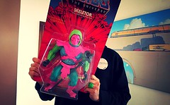 Giant Skeletor 'prototype' - Masters of the Universe (Solitude is preferred) Tags: pink red music white green wall disco toys actionfigure mono neon teal sonoma vinyl canvas plastic prototype blister packaging watercolour techno nights hyper resin hang motu trance kaiju hotpink super7 mastersoftheuniverse sofubi toycollection rotocasting sonomabread