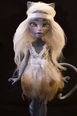 OOAK Meowlody by WillStore (willka_ann) Tags: alpaca monster doll ooak custom mh mattel repaint reroot faceup werecat purrsephone monsterhigh meowlody willstore
