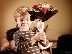 happy day (dziurek) Tags: flowers wedding boy flower smile childhood sepia happy kid nikon day child joy happiness blonde d750 bouquet tamron 2470