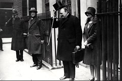 1927. Budget Day, 11, Downing Street, Westminster, London, SW1. UK. (sgterniebilko) Tags: uk 1920s london westminster abbey station ad police delta row winstonchurchill cannon law alpha metropolitan sw1 20s downingstreet londonpolice constable 1927 metropolitanpolice chancelloroftheexchequer budgetday policelondon