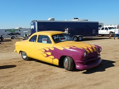 1950 Ford Business Coupe (Bob the Real Deal) Tags: car yellow race eagle flames yesterday goodtimes yellowcar firebaugh businesscoupe firebaughca eaglefield 1949ford 1950ford 1949fordbusinesscoupe eaglefielddrags 1950fordbusinesscoupe eaglefieldrunwaydrags livingyesterdaytoday