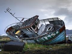 Boat, Iceland (E . K) Tags: old boat iceland bateau vieux islande grindavik
