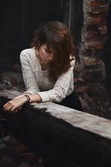 Marina (ivankopchenov) Tags: portrait people girl dark sadness outdoor