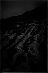 Scars On The Land (StuMcMillan) Tags: bw sun west canon way walking landscape scotland alone hiking glen september hills highland glencoe 5d rough coe mkii 2015