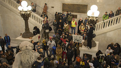 Justice for Jamar at City Hall (Fibonacci Blue) Tags: black minnesota race march photo cityhall crowd protest picture minneapolis police mpls photograph clark lives twincities activism mn brutality activist jamar matter fibonacciblue blacklivesmatter justice4jamar jamarclark