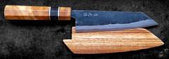 Bunka-ChefsKnife-Burl-Handle-Handforged-a011 (LeifAnders) Tags: saya bluesteel bunka chefsknife handforged aogami birchburl