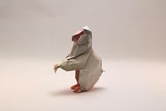 Kawahata Fumiaki. Japanese Macaque (kastudio) Tags: art paper japanese origami macaque kawahata fumiaki