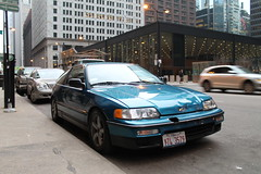Blue Razz (Flint Foto Factory) Tags: plaza camera city morning blue autumn winter urban chicago fall honda john japanese illinois am downtown december view traffic loop flag famous front jackson crx architect american clark raspberry intersection 1991 rushhour van der import ludwig federal mies coupe 1990 sporty razz hatchback rohe dented 2door 2015 kluczynski threequarter sooc 2seat worldcars straightoutof