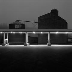 Gas Station, Colfax, Washington (austin granger) Tags: night rural dawn washington grain earlymorning gasstation colfax palouse gf670 austingranger
