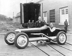Coleman - Red Shafer shown driving the Coleman race car that placed 7th in the Indianapolis 500 in 1930.