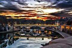 Burning skies on Rome (simone_aramini) Tags: life rome colour roma beauty landscape landscapes nikon cloudy cityscapes naturallight d200 colori nikond200 top20bridges lucinaturali