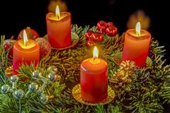 4. Advent (dietmar-schwanitz) Tags: christmas light weihnachten licht kerzenlicht candles advent adventwreath candlelight kerzen hdr lightroom kerzenschein photomatix nikonafsmicronikkor105mmf28ged dietmarschwanitz nikond750