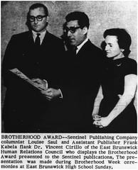 Brotherhood Award presentation at East Brunswick High School, 1964 (Ereiss1) Tags: vintage eastbrunswick nj