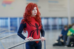 Montreal MiniCon 2016-0018 (Besisika) Tags: minicon otakuthon anime manga cosplay convention palais de congres montreal 2016 quebec canada besisika malagasy young costume indoor strobe flash bokeh depth field december spider girl spiderman spidergirl woman lady canon 85mm 12 one light comicon liveview game bokehoftheday bokehwhores