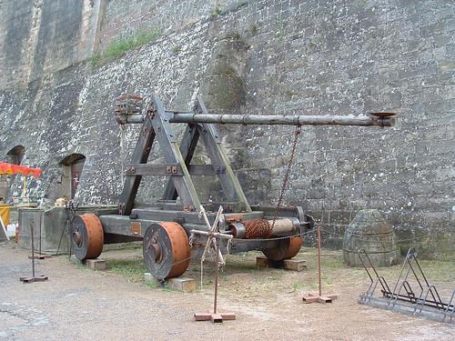 Kost vára, középkori kőhajítógép