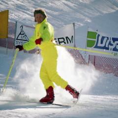 Showtime at Gray Rocks (wordman760) Tags: grayrocks sugarpeak skiing ski snow sport saintjovite ballet acrobatics jump poleflip 360 minolta x370 kodak vps 160asa colour negative film monttremblant québec canada laurentides laurentians outdoors 35mm