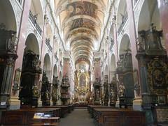 Baroque church interior - Prague (Monceau) Tags: baroque ornate church prague nave arched ceiling pews
